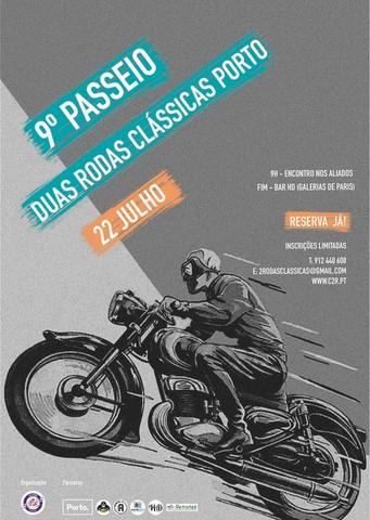 No dia 22 de julho realiza-se o 9º Passeio Duas Rodas Clássicas do Porto. Este passeio para além do motivo sempre agradável de passear pelas ruas da Invicta