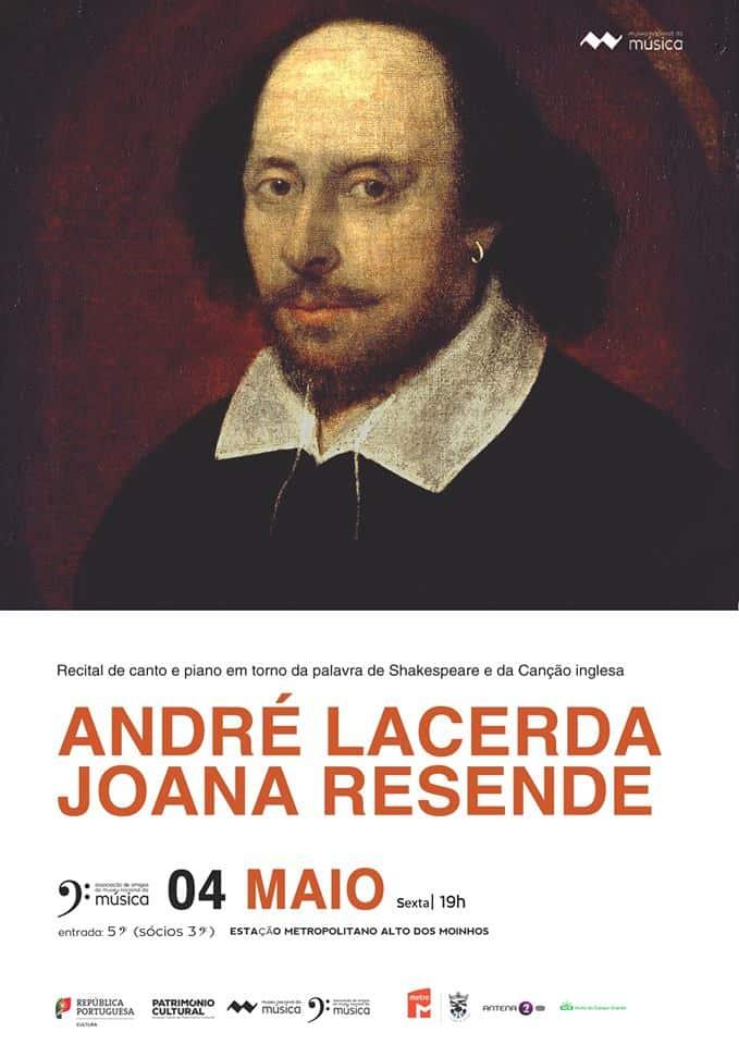O Tenor André Lacerda e a Pianista Joana Resende apresentam hoje dia 4 de Maio