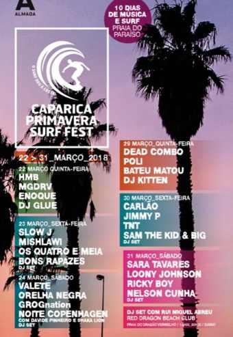 CAPARICA PRIMAVERA SURF FEST 2018 – BILHETE DIÁRIO | PRAIA DO PARAÍSO