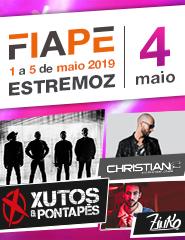 FIAPE 2019 – 04 Maio –  Xutos e Pontapés – Christian F – Zinko