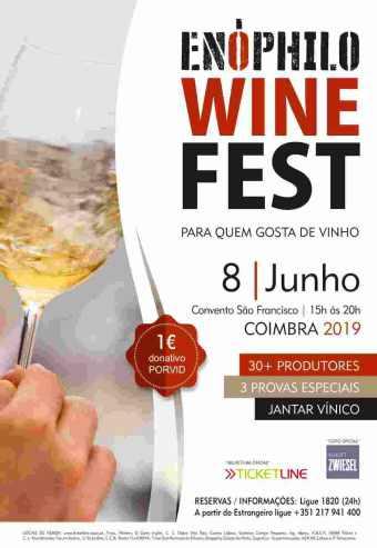 ENÓPHILO WINE FEST 2019 – PROVA ESPECIAL 3, O DOURO E AS SUAS CASTAS ANTIGAS   COIMBRA