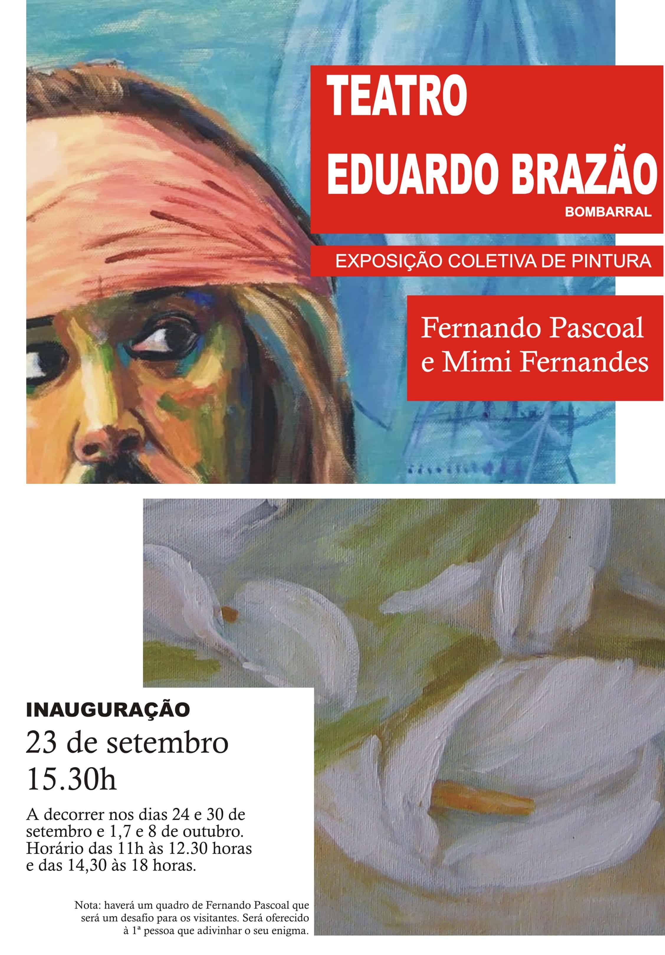 Fernando Pascoal e Mimi Fernandes juntam-se para uma exposição colectiva de pintura que vai decorrer no Bombarral no Teatro Eduardo Brazão. Quando se tem o privilégio de chegar aos 99 anos