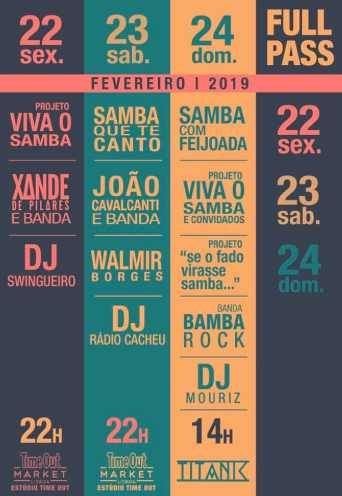 FESTIVAL VIVA O SAMBA – PASSE | ESTÚDIO TIME OUT | TITANIC SUR MER