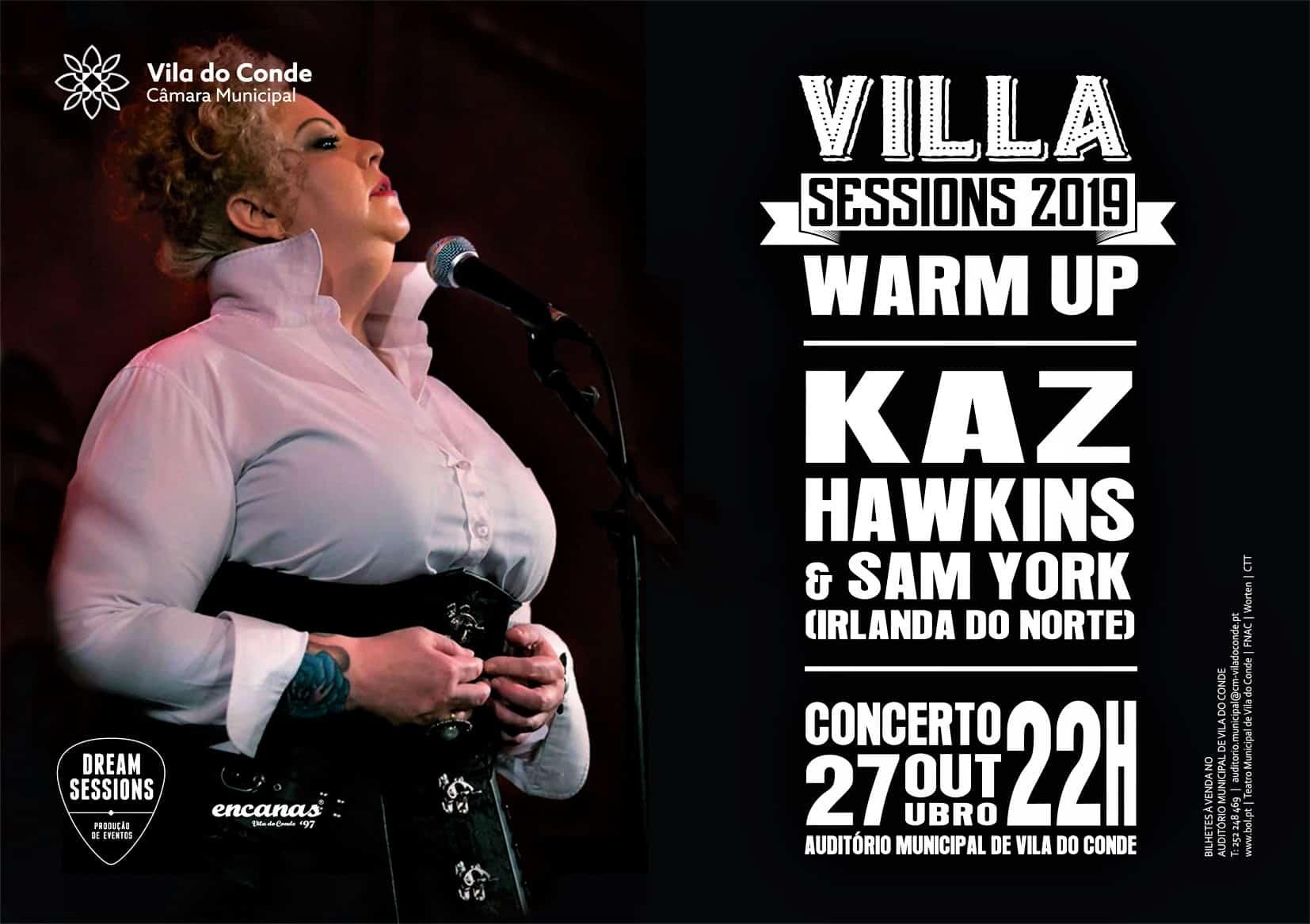 Kaz Hawkinsft Sam York vão dar um concertoem Vila do Conde