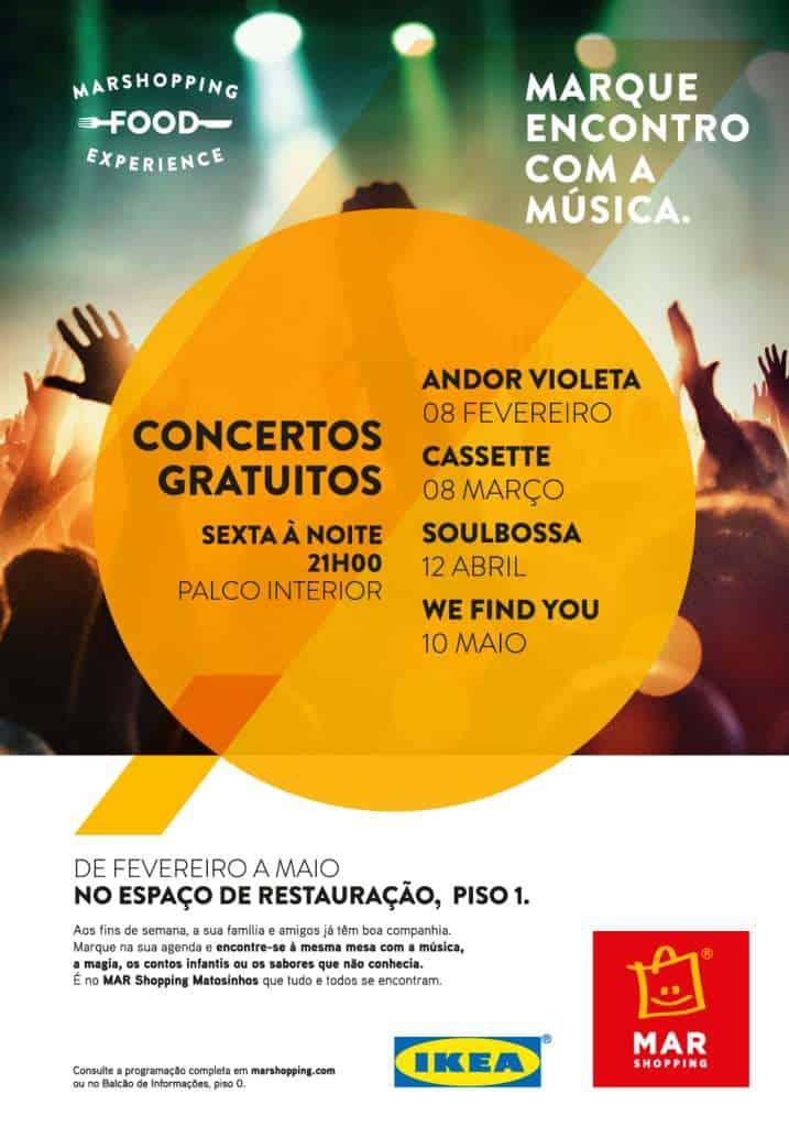 We Find You em concerto intimista no MAR Shopping Matosinhos