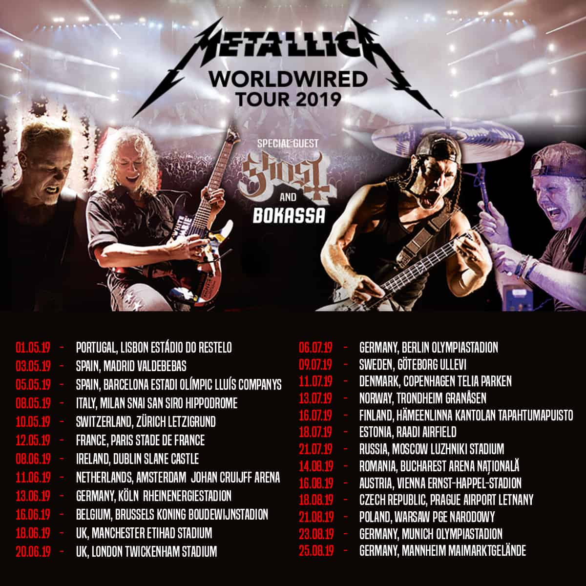 METALLICA WORLDWIRED TOUR 2019 | LISBOA