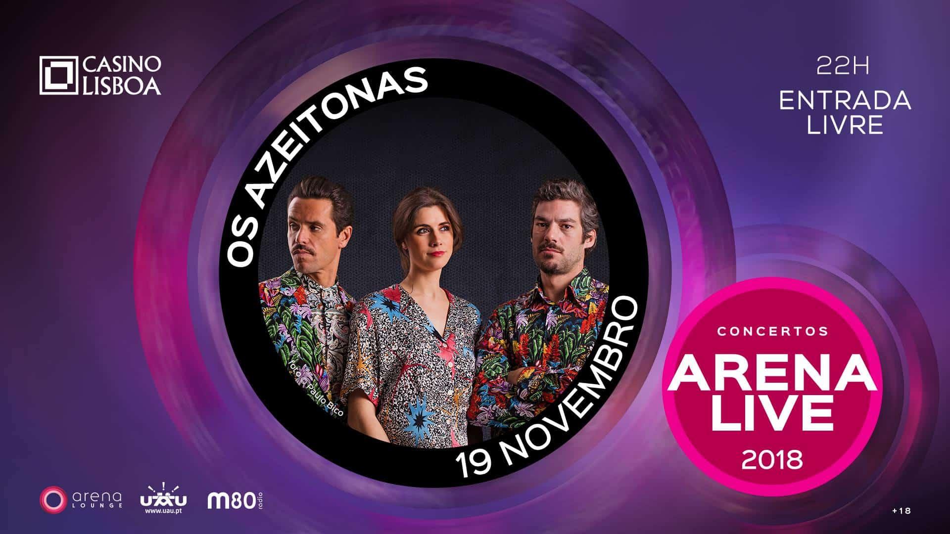 Os Azeitonas são a próxima banda a atuar no Casino Lisboa. Com o Arena Lounge sucessivamente esgotado