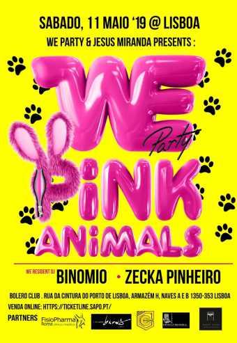 WE PARTY PINK ANIMALS   ESPAÇO BOLERO