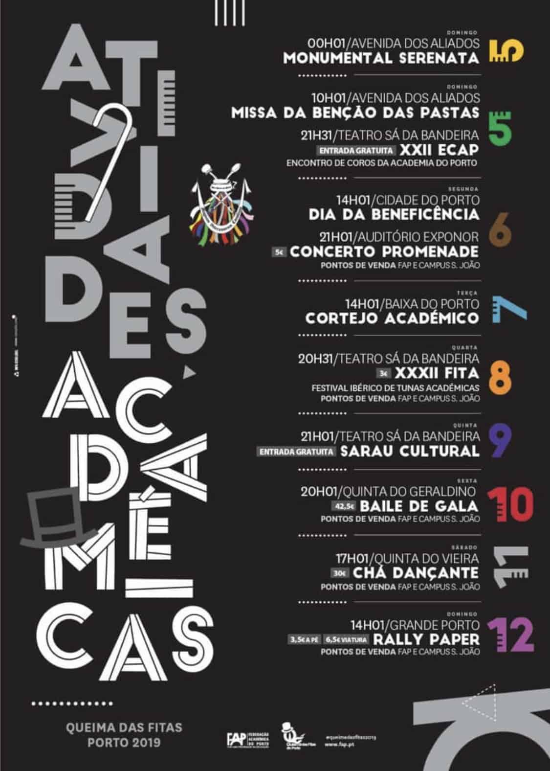 ATIVIDADES ACADÉMICAS – QUEIMA DAS FITAS PORTO 2019