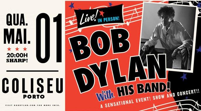Bob Dylan com um concerto único na invicta no dia 01 de maio no Coliseu do Porto. Depois de um concerto fabuloso esgotado
