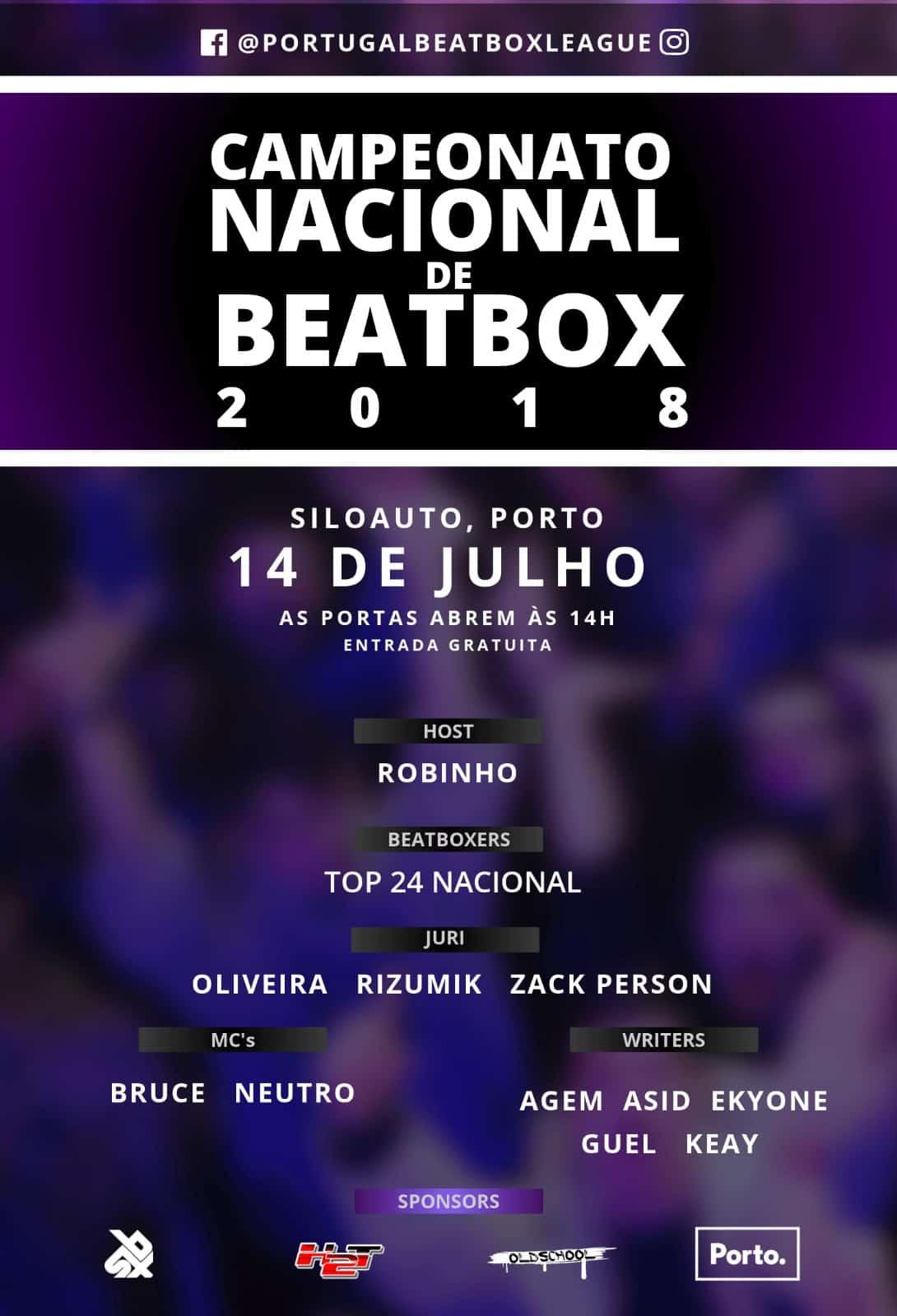 OCampeonato Nacional de Beatboxvai disputar-se este ano no Porto