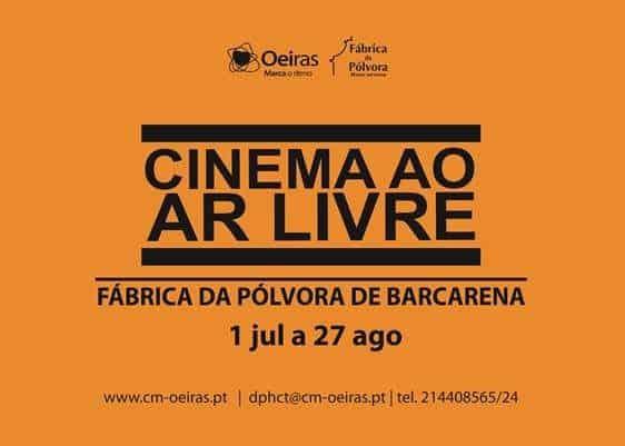 Na Fábrica da Pólvora de Barcarena prossegue até 26 de Agosto a6ª edição do Cinema ao Ar Livre. Uma iniciativa da Câmara Municipal de Oeiras que continua a oferecer bom cinema