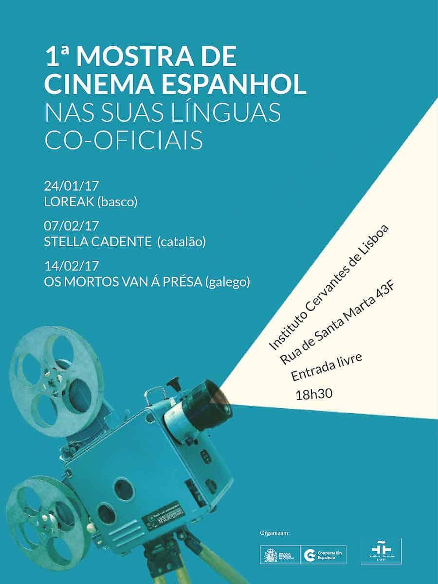 A Seção de Cultura da Embaixada de Espanha e o Instituto Cervantes de Lisboa organizam a 1ª Mostra de Cinema Espanhol nas suas Línguas Co-oficiais