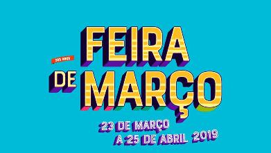 A Feira de Março 2019 realiza-se entre os dias 23 de março e 25 de abril