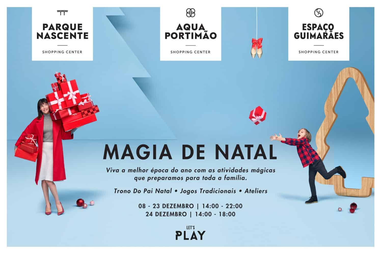 A Magia de Natal chega aos centros comerciais Aqua Portimão