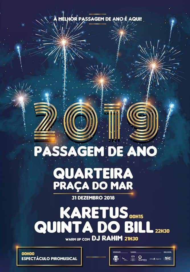 PASSAGEM DE ANO NA QUARTEIRA – 2018-2019