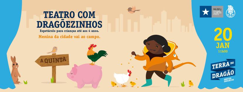 O ano de 2019 inicia-se com mais uma estreia na programação do Museu FC Porto dirigida às famílias. Teatro com Dragõezinhos é uma nova proposta cognitiva na Terra do Dragão (espaço do Serviço Educativo)