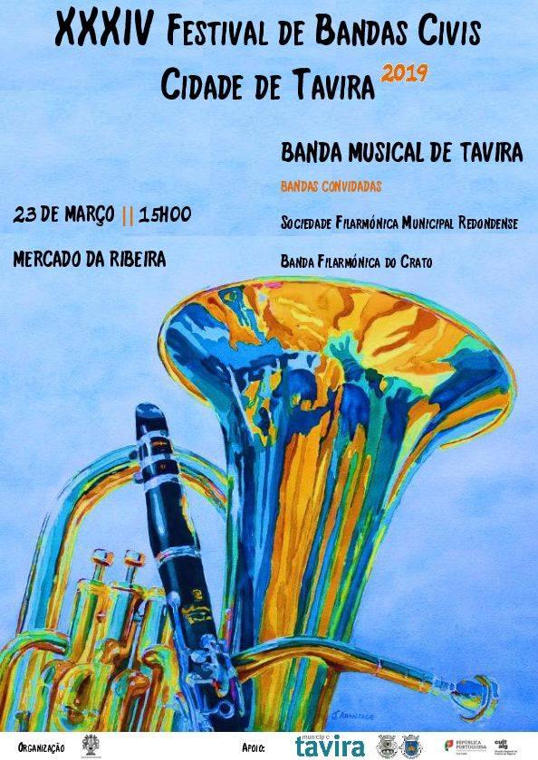 XXXIV FESTIVAL DE BANDAS CIVIS 2019 – TAVIRA
