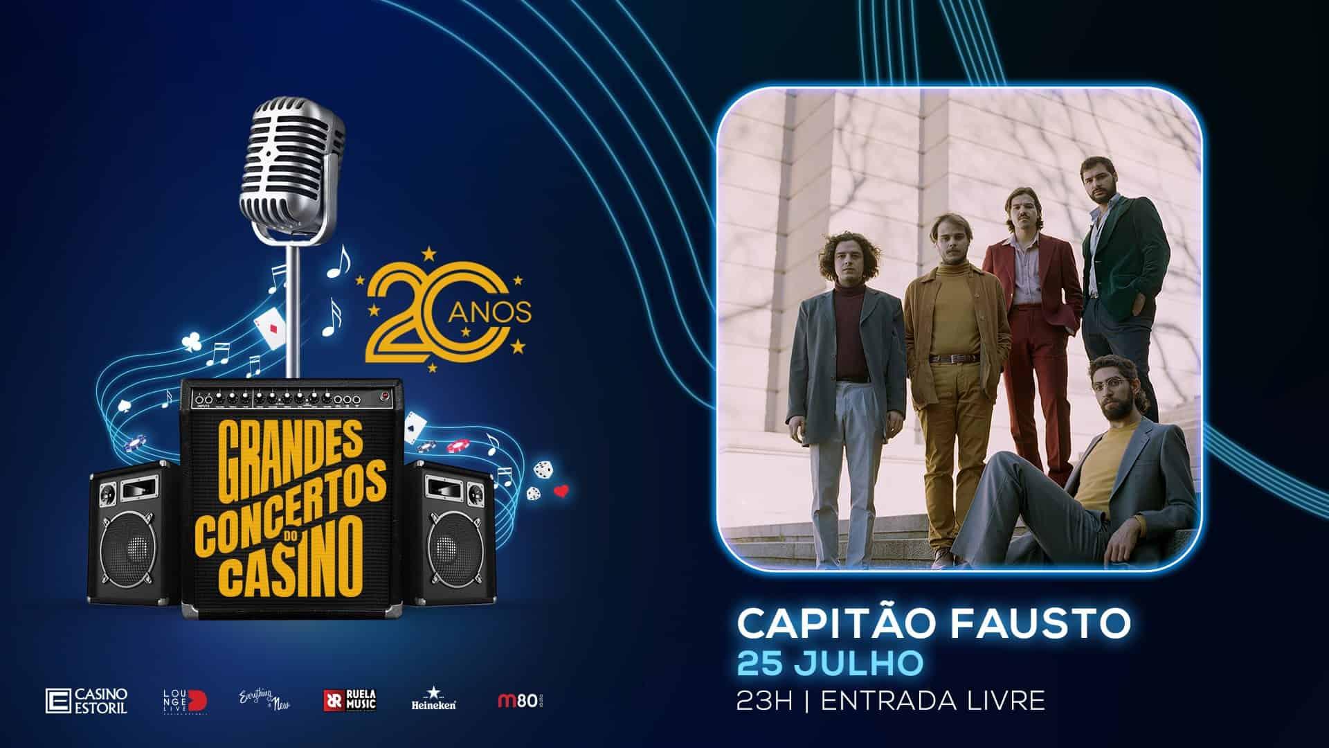 CAPITÃO FAUSTO EM ESTREIA NO CASINO ESTORIL