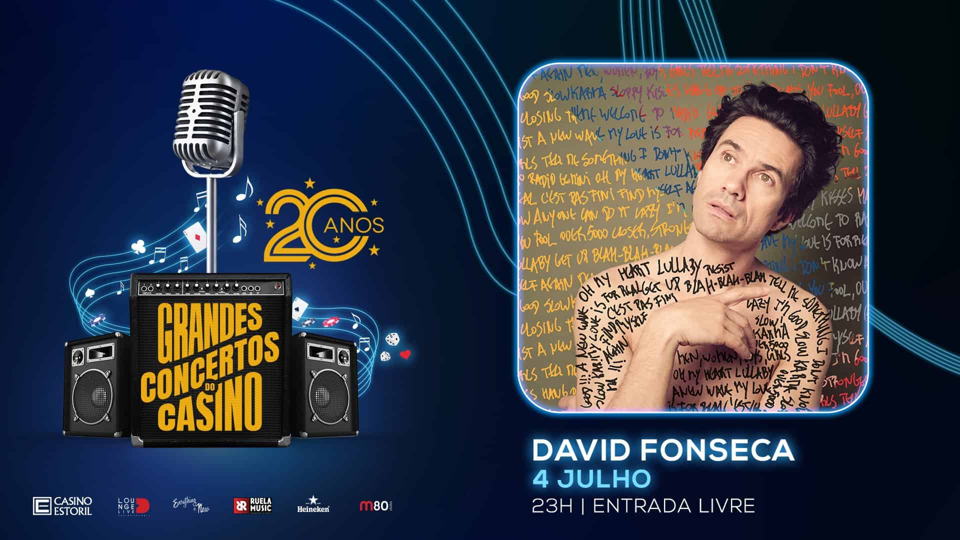 DAVID FONSECA NOS GRANDES CONCERTOS DO CASINO