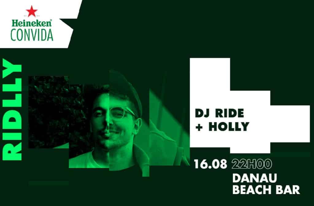 """Heineken Convida®, os irmãos DJ Ride e Holly, que vão transformar-se em """"Riddly"""", com a promessa de uma partilha de palco para uma uma noite memorável ao som da melhor música."""