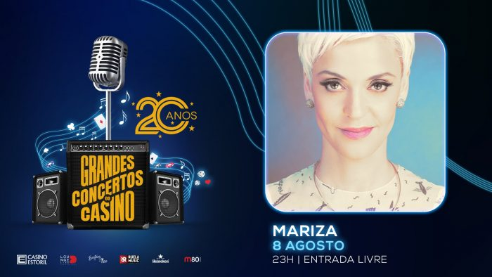 Mariza é o grande nome do panorama musical português que vai encerrar os Grandes Concertos do Casino Estoril, nesta sua edição de 2019, apresentando-se, na próxima Quinta-Feira, 8 de Agosto, às 23 horas, no Lounge D do Casino Estoril. A entrada é livre.