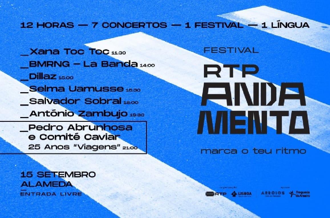 A Cerveja Sagres é a mais recente confirmação do Festival RTP Andamento, a realizar-se no dia 15 de setembro, nos jardins da Alameda Dom Afonso Henriques, em Lisboa, num reforço da ligação da marca à cultura e aos artistas nacionais, celebrando e promovendo o talento nacional.