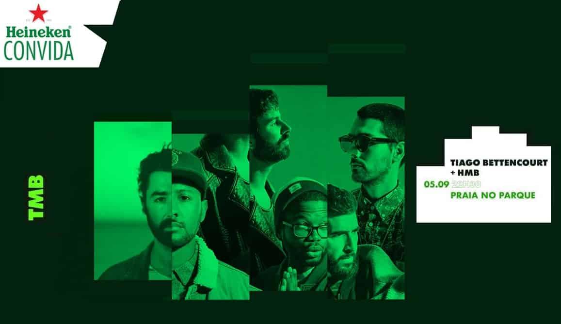 O Heineken Convida® regressa a Lisboa, para abrir a nova temporada com a primeira grande festa da rentrée. Tiago Bettencourt e os HMB vão-se transformar, mais uma vez em 'TMB', no próximo dia 5 de setembro, pelas 22:30, no Praia no Parque em Lisboa, em mais um concerto exclusivo e imprevisível.