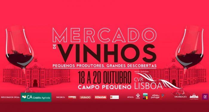 MERCADO DE VINHOS 2019 - De 18 a 20 de Outubro, o Campo Pequeno recebe mais de 150 produtores portugueses, para a 8ª Edição do Mercado de Vinhos, que terá este ano em destaque a região convidada de Lisboa.