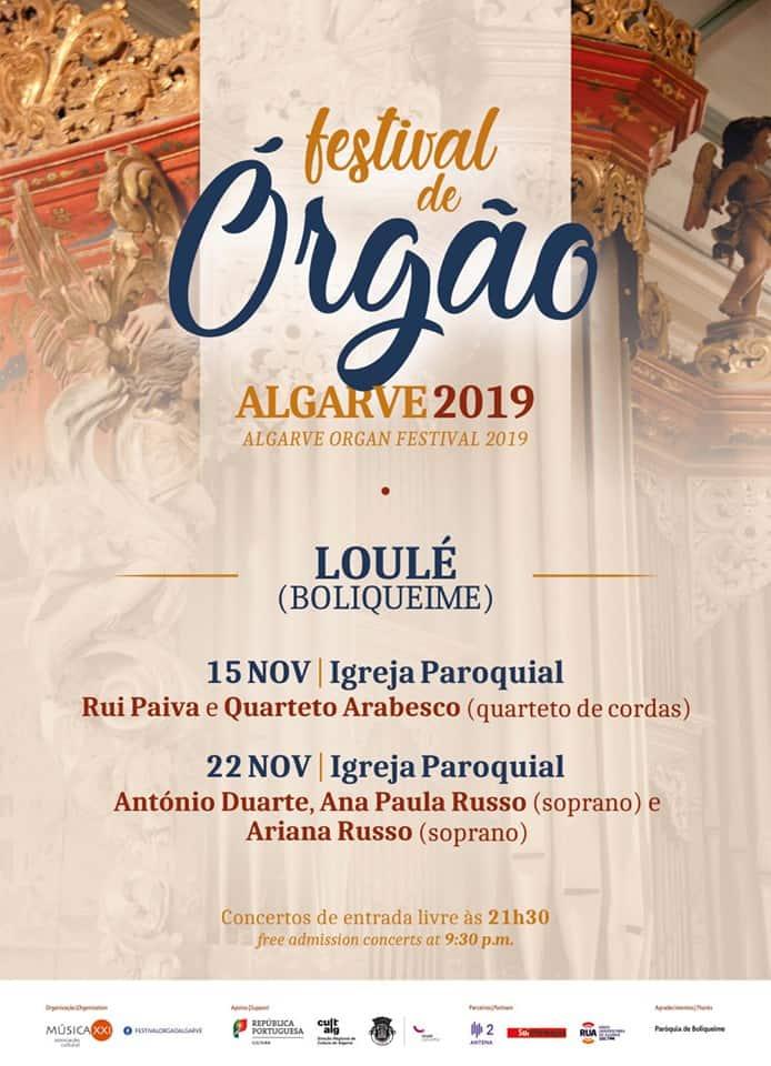 FESTIVAL DE ÓRGÃO ALGARVE 2019 – BOLIQUEIME