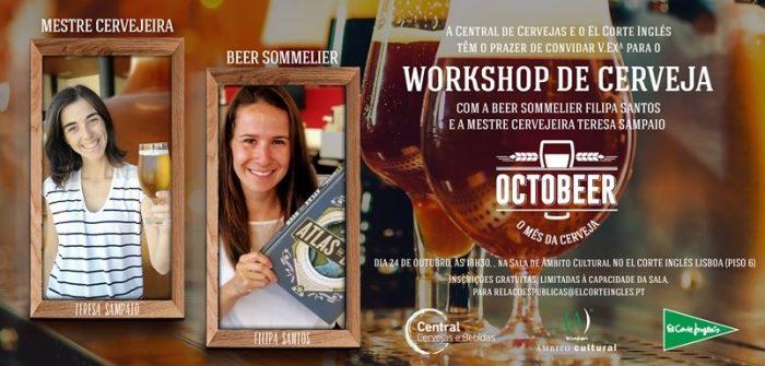 A Central de Cervejas, celebra com todos o Octobeer, promovendo um Workshop de Cerveja gratuito, numa iniciativa realizada em parceria com o El Corte Inglés, que pretende partilhar com todos, mais sobre cultura cervejeira.