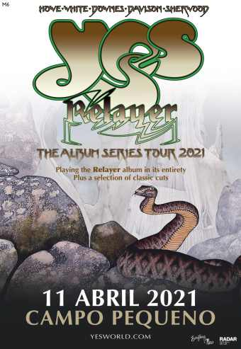 YES – THE ALBUM SERIES 2021 TOUR   CAMPO PEQUENO