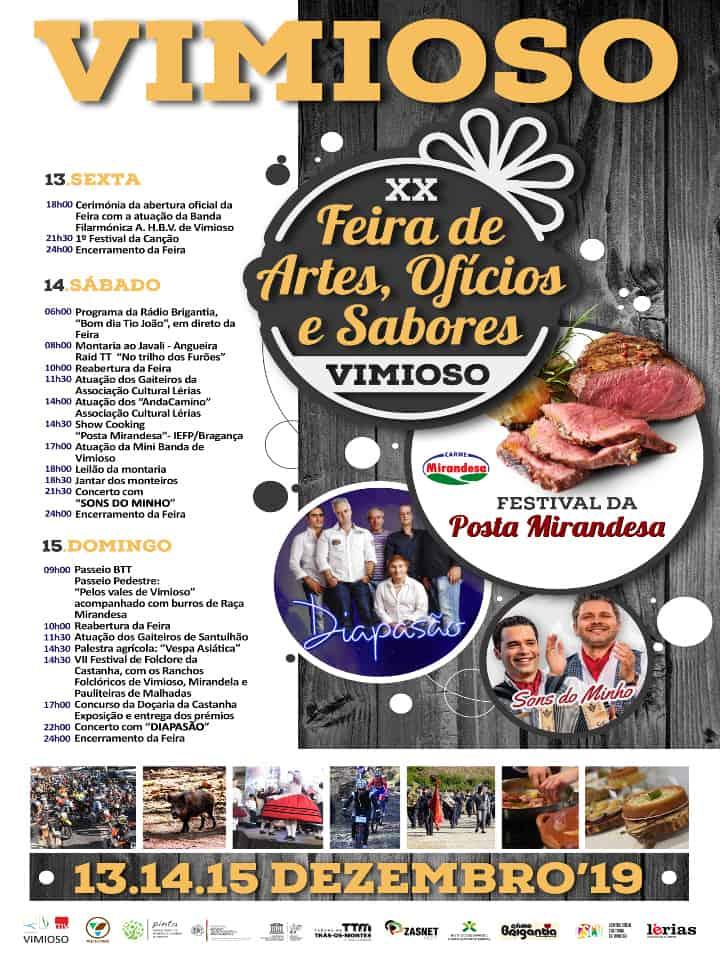 FEIRA DE ARTES, OFÍCIOS E SABORES 2019 VIMIOSO