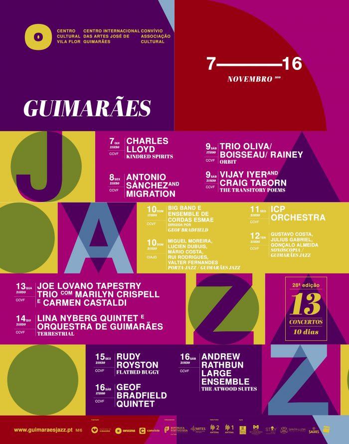 O Guimarães Jazz está de volta à cidade berço! São 13 concertos em 10 dias, com cerca de 150 músicos em palco, mais de 90 portugueses, que atravessam os palcos do Centro Cultural Vila Flor de 7 a 16 de Novembro.