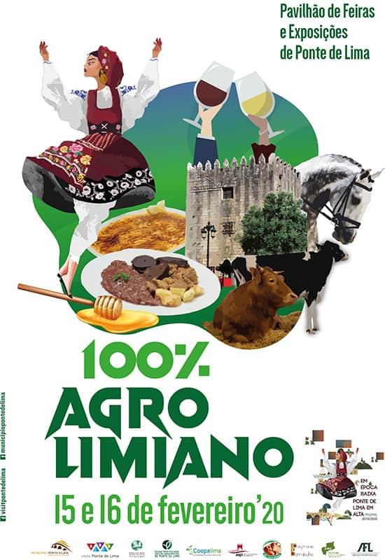 FEIRA 100% AGROLIMIANO 2020 | PONTE DE LIMA - A Feira 100% Agrolimiano está de volta a Ponte de Lima, nos dias 15 e 16 de fevereiro de 2020, para preservar e divulgar a cultura agrária de Ponte Lima.