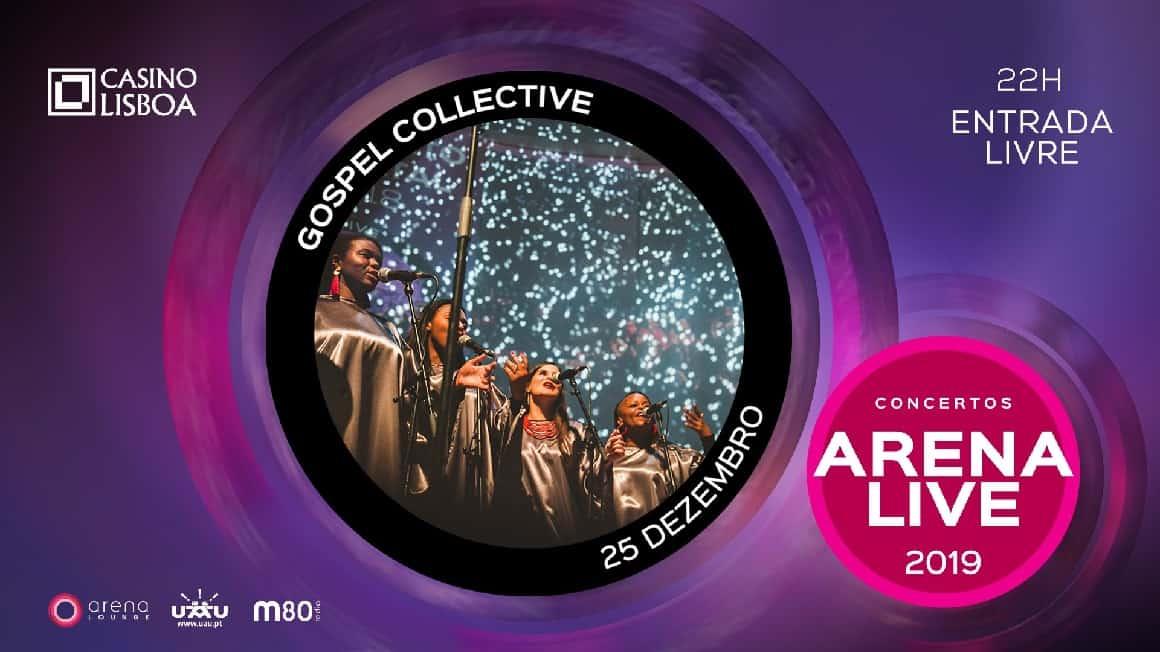 Gospel Collective em concerto, precisamente, a 25 de Dezembro no Arena Lounge do Casino Lisboa, que oferece, assim, um verdadeiro presente de Natal aos seus visitantes. Com entrada livre, a não perder, às 22 horas.