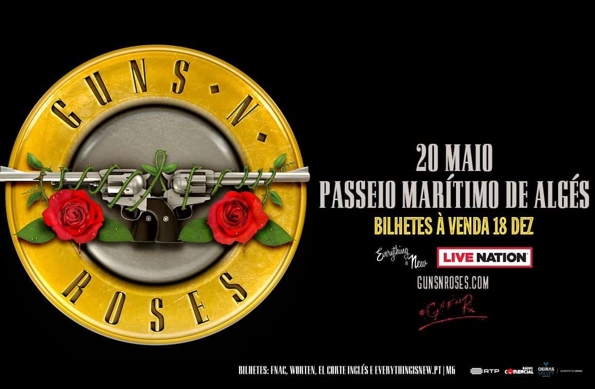 Os Guns N'Roses estão de volta a Portugal no dia 20 de Maio de 2020, com um concerto no Passeio Marítimo de Algés. Os bilhetes estão à venda a partir do dia 18 de Dezembro.