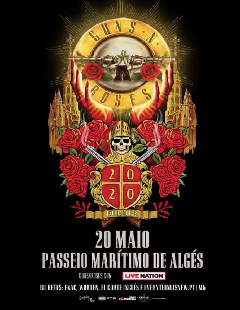 GUNS N'ROSES – BILHETES PACOTE VIP – MAIO 2020