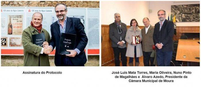 """Água Castello e a Câmara Municipal de Moura assinaram assinaram no passado dia 14, o protocolo para a criação do percurso """"Do Castello até Pisões"""", uma iniciativa que visa promover a cultura e o turismo no Concelho de Moura."""