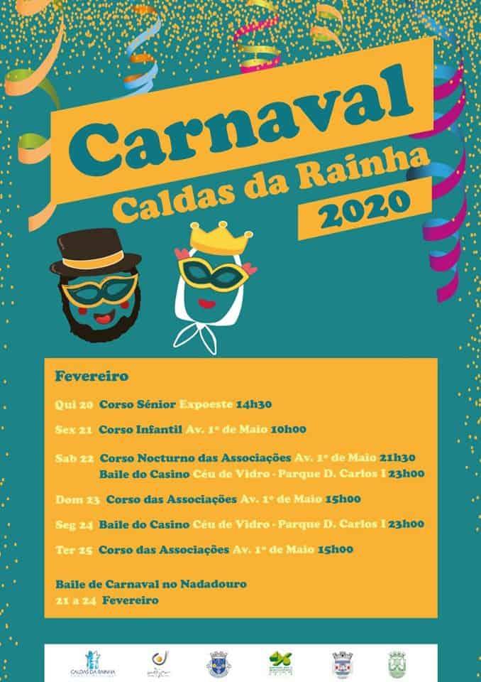 CARNAVAL DAS CALDAS DA RAINHA 2020 | PROGRAMA