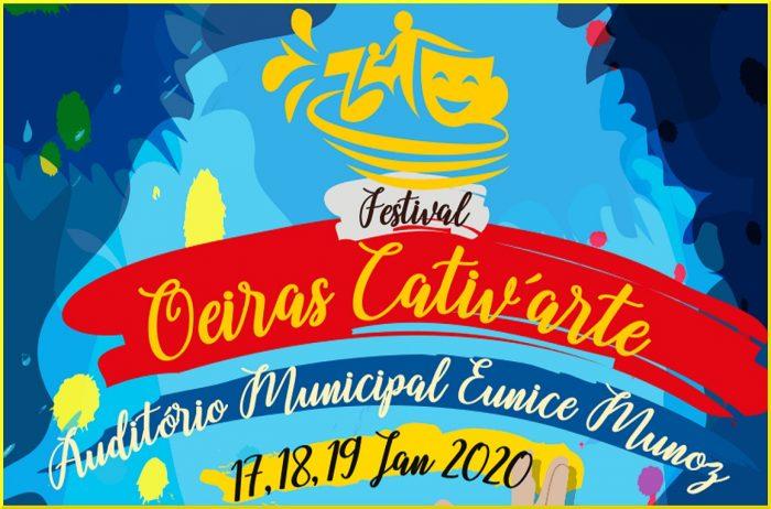 O Festival Oeiras Cativ'arte regressaao Auditório Municipal Eunice Muñoz, de 17 a 19 de janeiro, parasensibilizar a comunidade a conhecer e valorizar as produções artísticas realizadas por pessoas com doença mental e deficiência.O preço dosbilhetes para o público em geral é três euros.