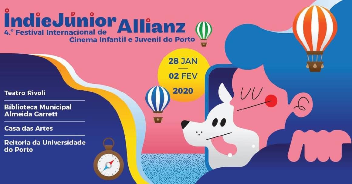 O IndieJúnior Allianz 2020 - Festival de Cinema Infanto-juvenil estará de regresso ao Porto entre 28 de janeiro e 2 de fevereiro de 2020, com seis dias de cinema, oficinas, conversas e outros eventos para famílias e escolas.