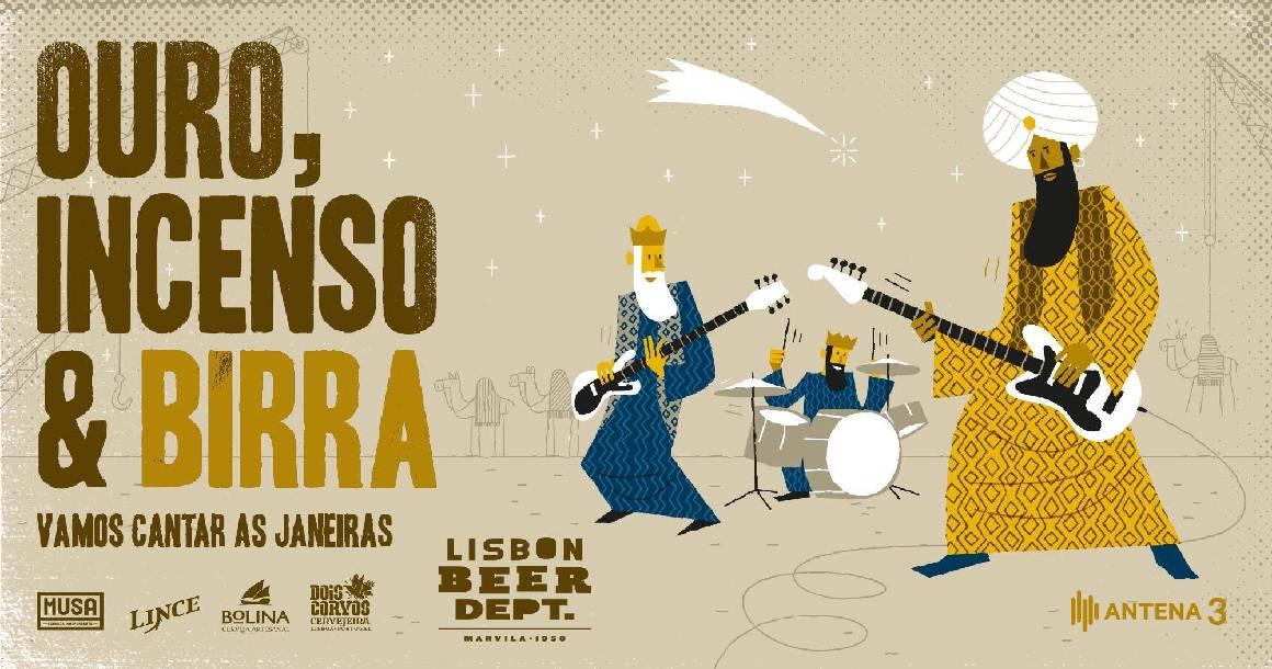 É já este fim-de-semana, o Ouro, Incenso & Birra, dias em que o Lisbon Beer Department abre as portas às suas fábricas para receber o bairro e a cidade numa tarde longa de showcases.