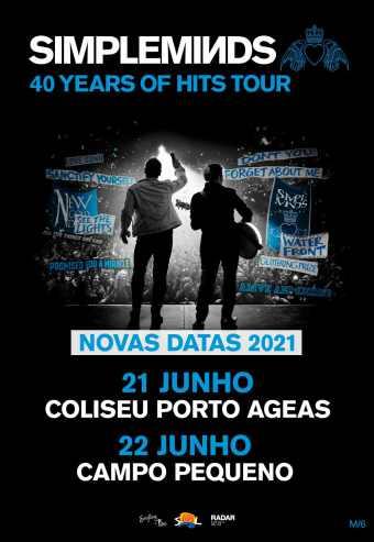 SIMPLE MINDS – 40 YEARS OF HITS TOUR 2021 | COLISEU PORTO AGEAS