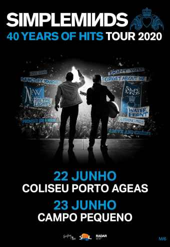 SIMPLE MINDS – 40 YEARS OF HITS TOUR 2020 | CAMPO PEQUENO