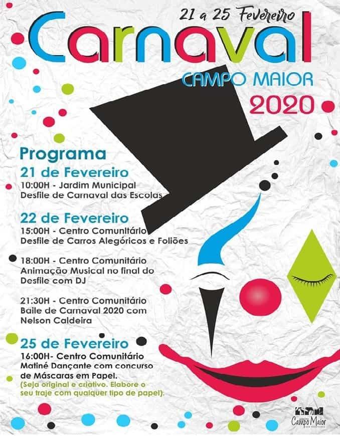 CARNAVAL DE CAMPO MAIOR 2020 – PROGRAMA GERAL