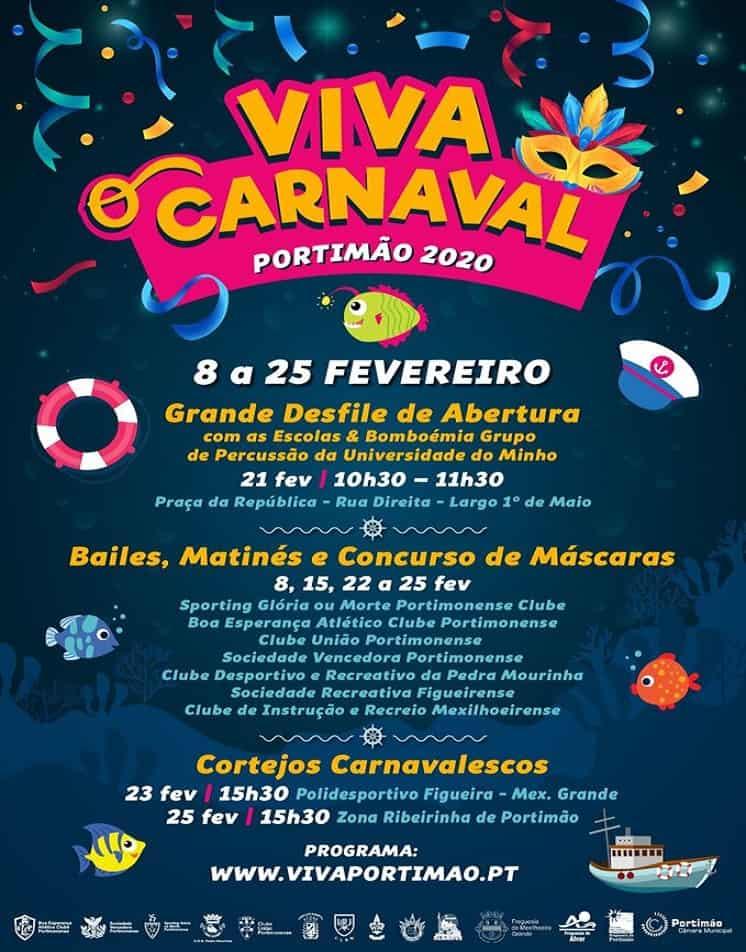 CARNAVAL EM PORTIMÃO 2020 – PROGRAMA GERAL