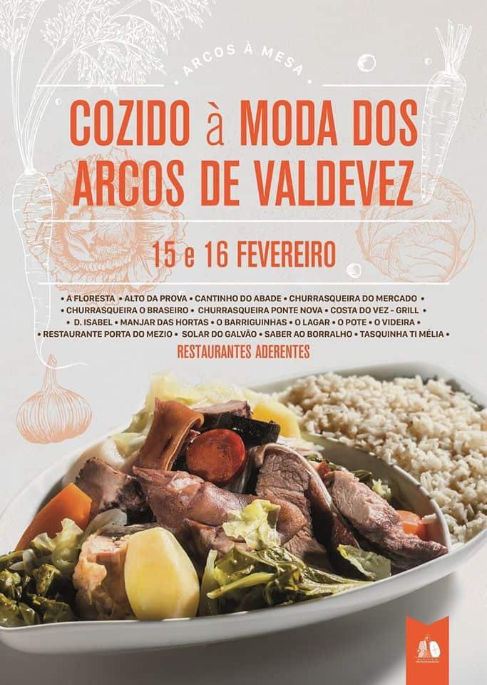 """COZIDO À MODA DOS ARCOS DE VALDEVEZ 2020 - Os fins de semana gastronómicos, """"Arcos à Mesa"""", estão de regresso nos próximos dias 15 e 16 de fevereiro."""