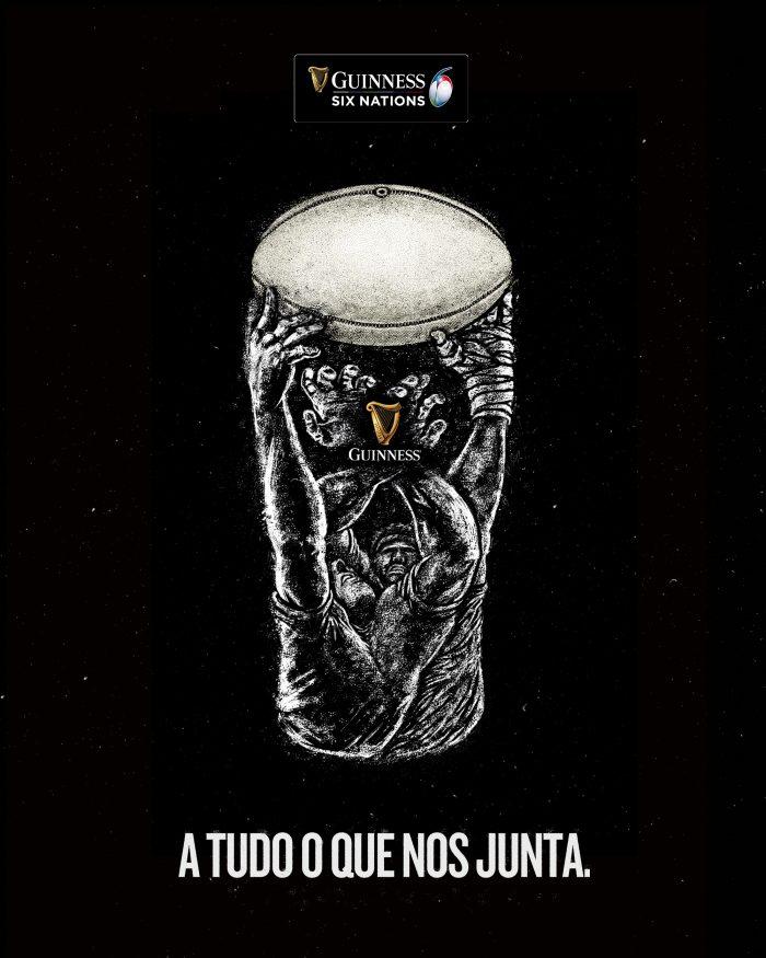 """O Guiness Six Nations, uma das mais icónicas competições de Rugby do Mundo, está prestes a iniciar-se, e a Sociedade Central de Cervejas e Bebidas (SCC), distribuidora da cerveja Guiness em Portugal, quer promover no nosso país o espírito deste emblemático torneio, tendo para isso preparado uma campanha local sob o mote """"A tudo o que nos junta"""", com várias surpresas e prémios para os fãs e consumidores da marca."""