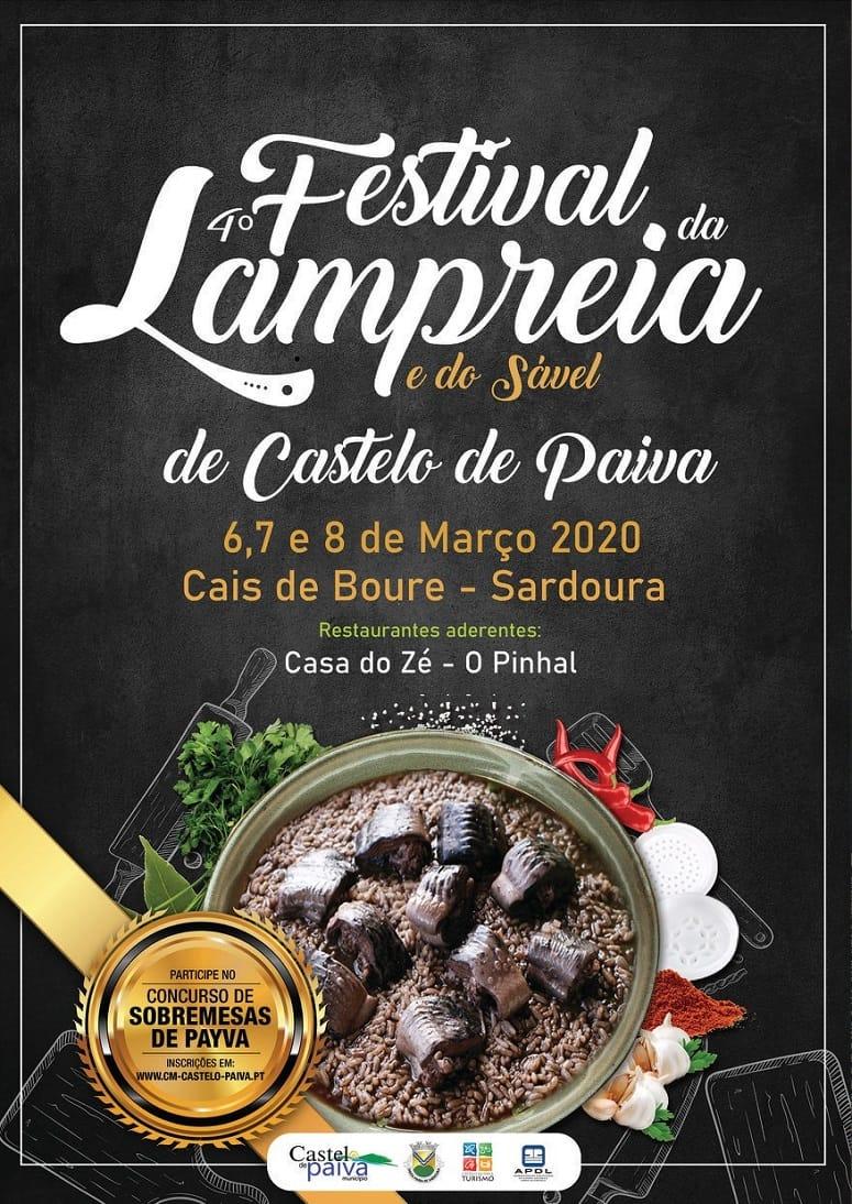 FESTIVAL DA LAMPREIA E DO SÁVEL 2020 DE CASTELO DE PAIVA